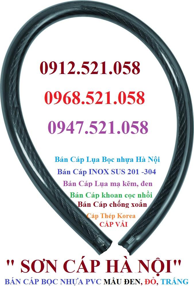 Cáp bọc nhựa mầu đen SVA 001